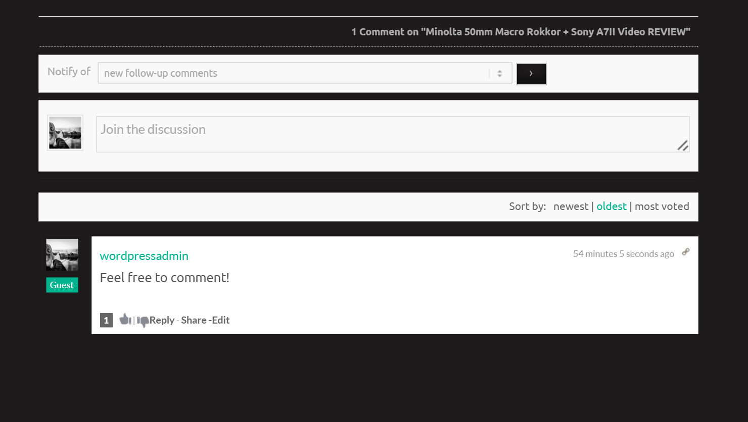 Blog Update: New Comment System!