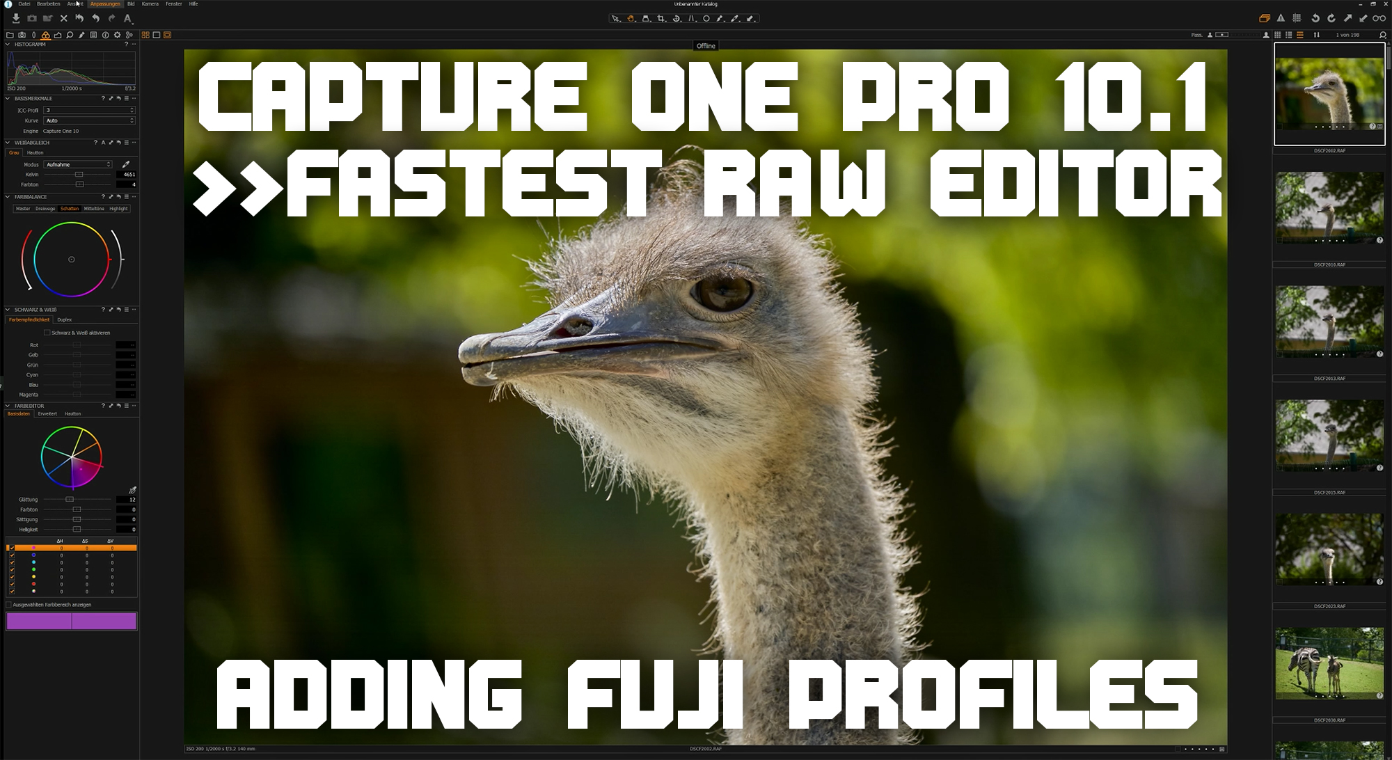 Capture One Pro 10.1 – Fastest Editor + Adding Fuji Profiles